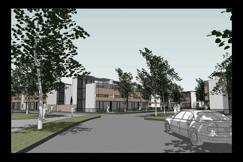 Residential scheme in Kingsmead South, Milton Keynes